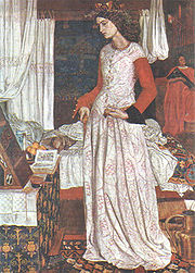 A rare Morris painting (that now lives in the Tate). Usually described as Guinevere, this is actually Iseult.
