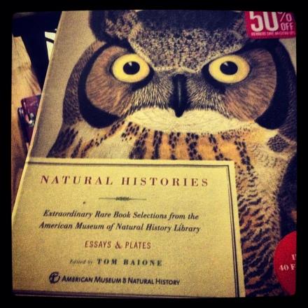 Natural history book & plates